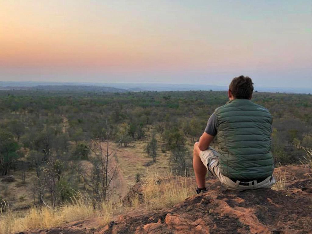 bumbusi wilderness camp hwange national park sunset sundowners