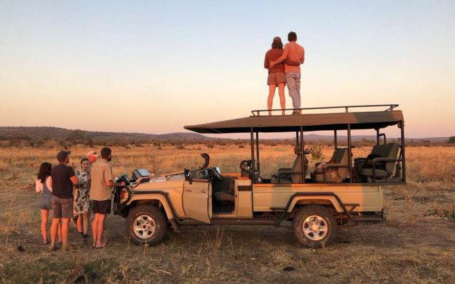 bumbusi wilderness camp hwange national park sunset sundowner game drive