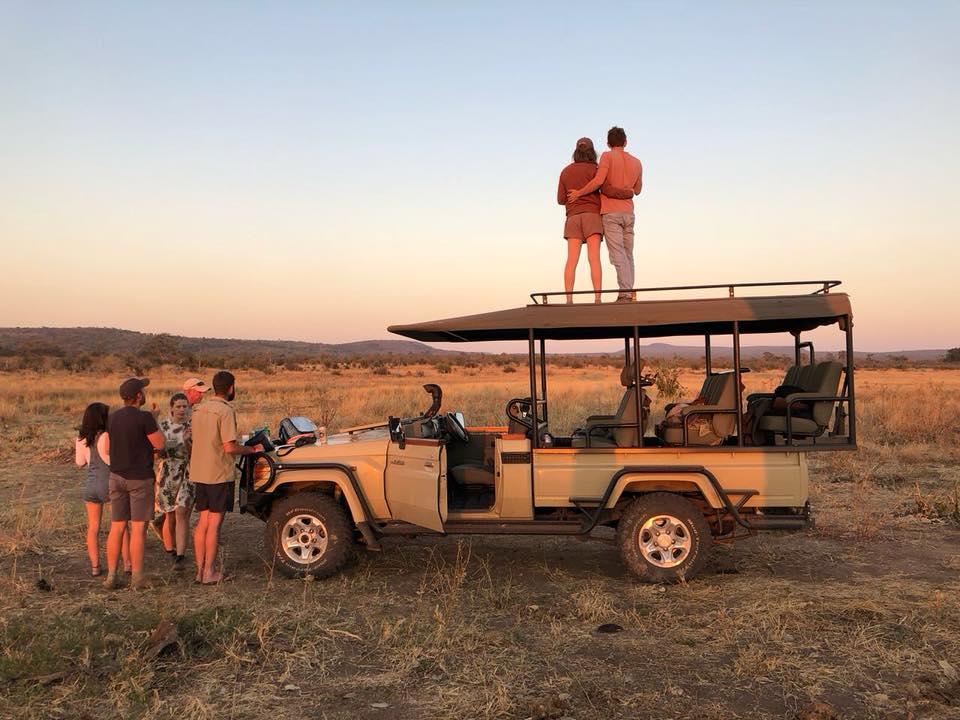 bumbusi wilderness camp hwange national park sunset sundowner game drive