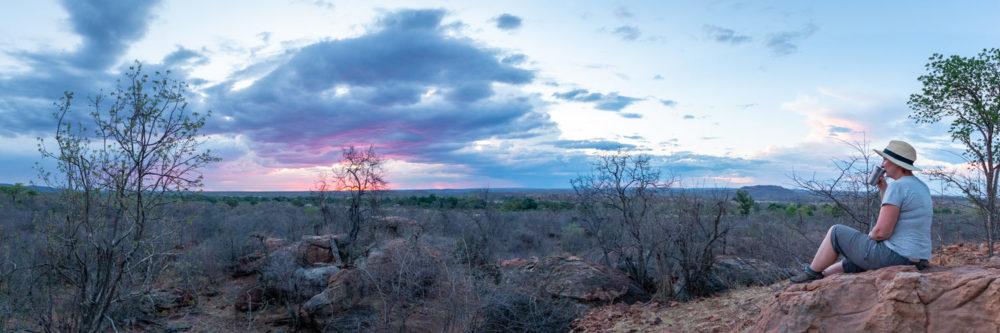 bumbusi wilderness camp hwange national park sunset view